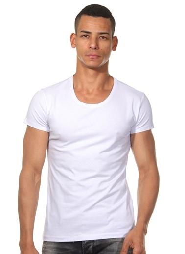 Dark Zone Basic Yarım Kollu Tişört Beyaz
